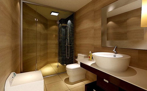 Cleverly designed bathroom, double the space!