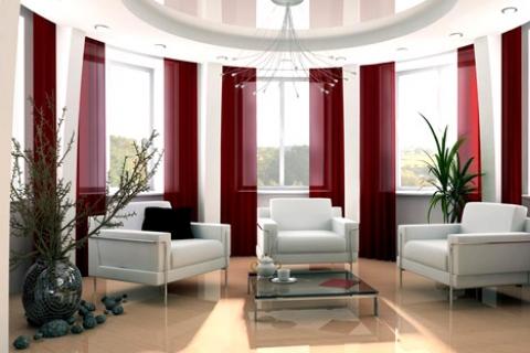Semi-circular balcony decoration method